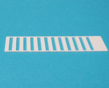 3D printed reusable template for Zebra Crossings - N Scale